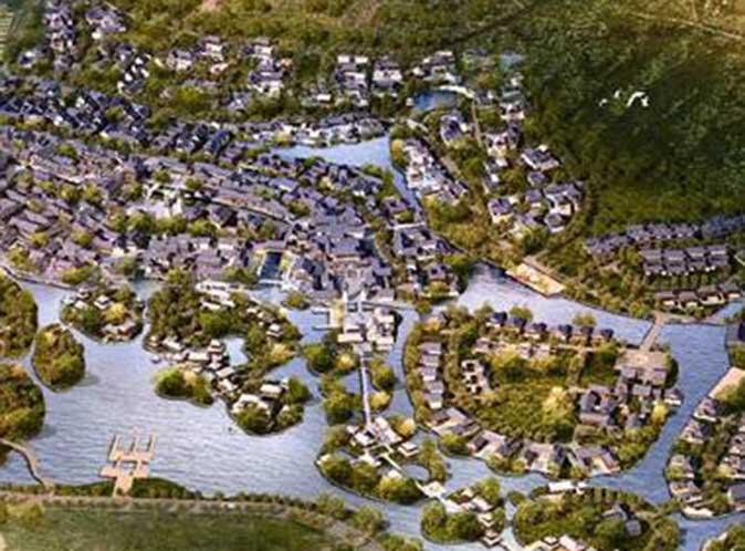 休閒渡假型商业设施规划<br>周边街道规划提案
